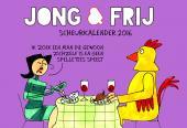 Scheurkalender Jong&Frij - dagelijkse strip 2016